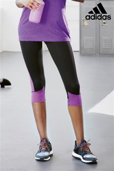 adidas Black/Purple Capri