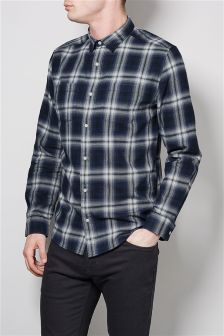 Ombre Window Pane Shirt
