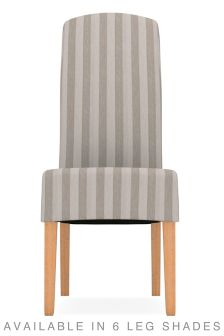 contemporary velvet stripe silver set of 2 sienna dining chairs