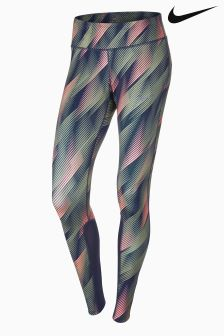 Nike Pink/Green Power Epic Running Tight