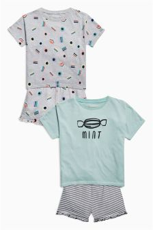 Sweets Short Pyjamas Two Pack (3-16yrs)