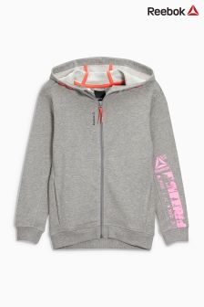 Reebok Grey Heather Zip Through Hoody