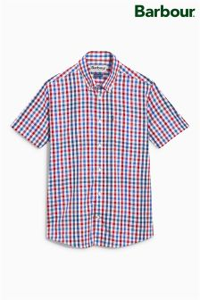 Barbour® Red Russell Check Short Sleeve Shirt