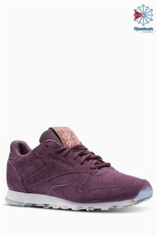 Reebok Purple Classic Leather Shimmer Trainer