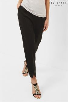 Ted Baker Black Cheray Split Hem Posh Jogger