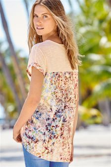 Woven Back Top