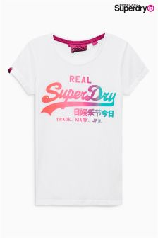 Superdry Optic Vintage Logo Burn Out Tee