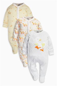 Duck Sleepsuits Three Pack (0mths-2yrs)