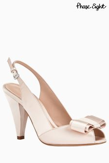 Phase Eight Belle Satin Peep Toe Shoe