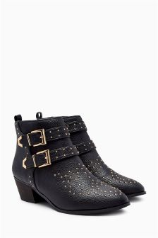 Studded Ankle Boots