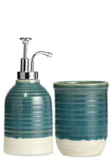 Set Of 2 Ceramic Teal Accessories