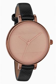 Etched Dial Strap Watch
