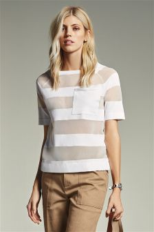 Sheer Stripe T-Shirt