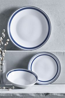 12 Piece Blue Band Dinner Set