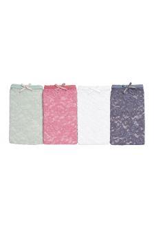 Lace Bikini Briefs Four Pack