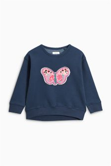 Butterfly Appliqué Sweatshirt (3mths-6yrs)