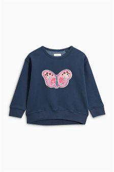 Butterfly Appliqué Sweatshirt (3mths-6yrs)