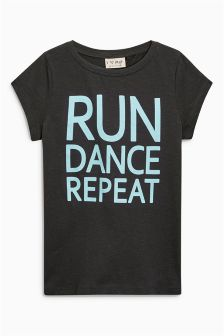 Run Dance Repeat T-Shirt (3-16yrs)