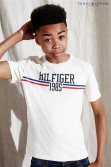 Tommy Hilfiger White Icon Logo T-Shirt