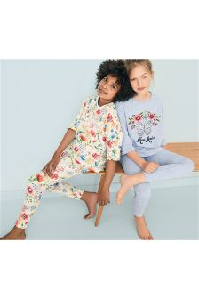 Floral Legging Pyjamas Two Pack (3-16yrs)