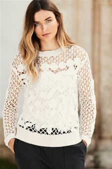 Floral Stitch Sweater