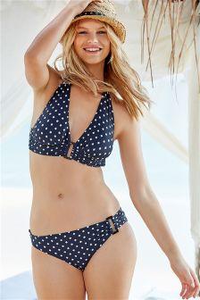 Leaf Trim Bikini Top