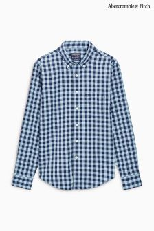 Abercrombie & Fitch Blue Gingham Check Shirt