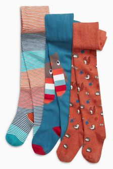 Owl Tights Three Pack (0mths-6yrs)