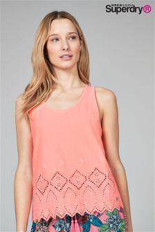Superdry Coral Embroidered Hem Vest