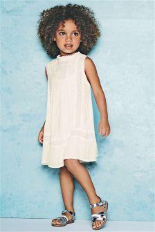 White High Neck Dress (3mths-6yrs)
