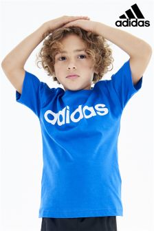 adidas Little Kids Linear Logo Tee