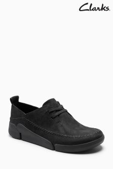 Clarks Black Combi Leather Trigenic Lace Up Shoe