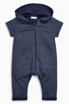 Zip Hooded Romper (0mths-2yrs)