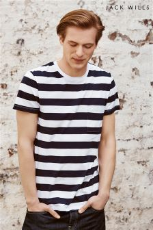 Jack Wills Navy Ayleford Breton T-Shirt