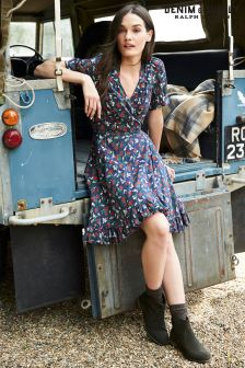 Ralph Lauren Denim & Supply Navy/Red Wrap Dress