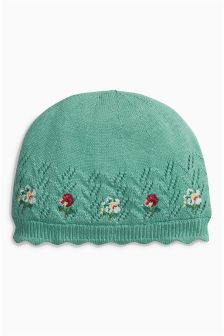 Embroidered Knit Hat (0mths-2yrs)