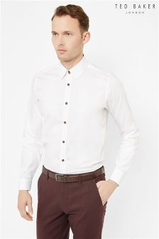 Ted Baker White Tonal Stripe Shirt