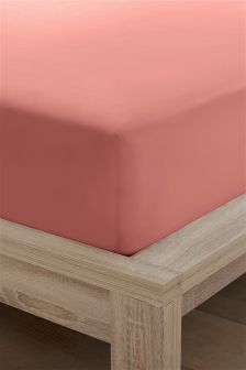 Cotton Rich Plain Dye Deep Fitted Sheet