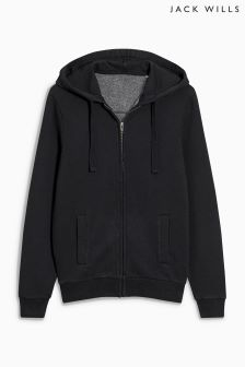 Jack Wills Pinebrook Black Zip Through Hoody