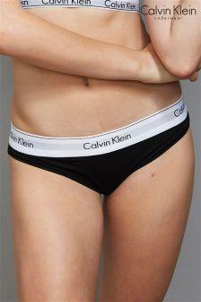 Calvin Klein Black Logo Thong