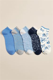 Ditsy Trainer Socks Five Pack