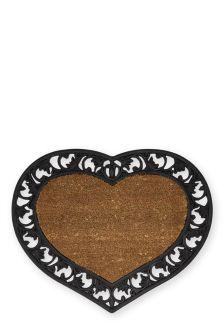 Rubber And Coir Hearts Doormat