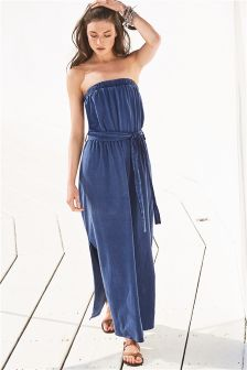 Print Belted Maxi Dress