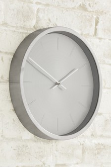 Silver Effect Clock