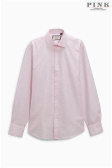 Thomas Pink Slim Fit Textured Formal Shirt