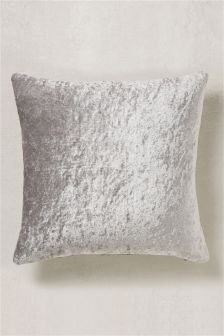 Crushed Velvet And Faux Silk Cushion
