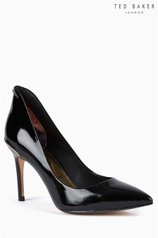Ted Baker Black Patent Leather Pointed Court Shoe