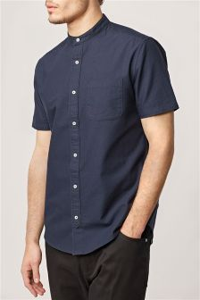Short Sleeve Oxford Grandad