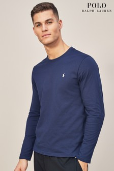 Ralph Lauren Navy Long Sleeve Crew T-Shirt
