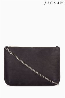 Jigsaw Black Chain Pouch